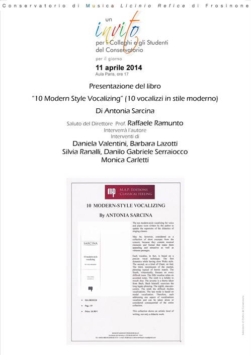 10 Modern-Style Vocalizing by A.Sarcina
