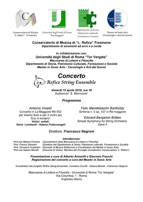 Concerto Refice String Ensemble