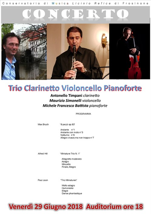 Concerto Trio Clarinetto Violoncello Pianoforte