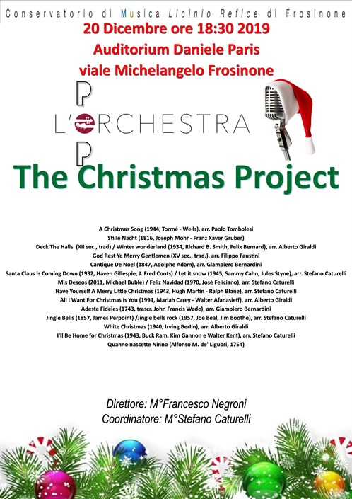 "Concerto di Natale dell'Orchestra Pop ""Christmas Project"""